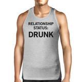 Relationship Status Men's Cotton Tanks Unique Design Graphic Tanks