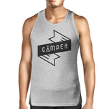Camper Men's Grey Cotton Tank Top Summer Camping Must Item For Him