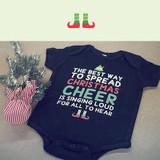 Cute Christmas Theme Baby Bodysuit - Pre-Shrunk Cotton Snap-On Style Baby Bodysuit