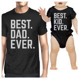 Best Dad And Kid Ever Black Funny Fathers Day Gift Idea For New Dad