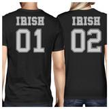 Irish 01 Irish 02 Black Funny Couple T Shirts For St Patricks Day