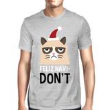 Feliz Navidon't Grey Men's T-shirt Christmas Gift For Cat Lovers