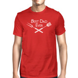 Best Bbq Dad Mens Red Round Neck Tee Funny Birthday Gifts For Dad