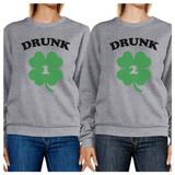 Drunk1 Drunk2 Funny Graphic Matching Sweatshirts For Best Friends