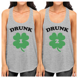 Drunk1 Drunk2 Best Friend Matching Tanks Gifts For St Patricks Day