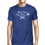 Best Bbq Dad Mens Blue Graphic Tee For Barbeque Lovers Dads Gifts