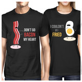 Don't Go Bacon My Heart, I Couldn't If I Fried Matching Couple Shirts (his & hers Set)