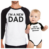 I'm A New Dad Funny Matching Baseball Raglan Tees Unique Dad Gifts