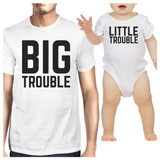 Big Trouble Little Trouble White Unique Fathers Day Gifts For Him