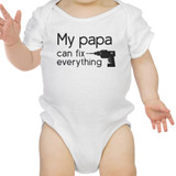 My Papa Fix White Cute Baby Bodysuit Cute Gifts For Baby Shower