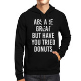 Abs Are Great But Black Hoodie Pullover Fleece Work Out Funny Quote