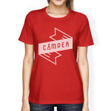 Camper Womens Red Crew Neck T-Shirt Simple Design Gifts For Friends