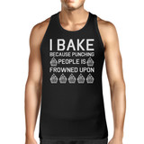 I Bake Because Mens Sleeveless Black Tank Top  For Cupcake Lover