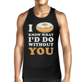 I Doughnut Know Men's Black Casual Graphic Tank Top Gifts For Him