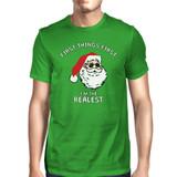 Realistic Santa Green Unisex T-shirt Christmas Gift Funny Shirt