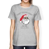 Realistic Santa Grey Women's T-shirt Christmas Gift Funny Shirt