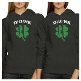Drunk1 Drunk2 Best Friend Matching Hoodies Gift For St Patricks Day