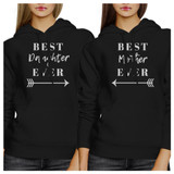 Best Daughter Mother Ever Black Mom and Daughter Couple Sweatshirts
