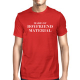 Boyfriend Material Red T-Shirt Funny Design Comfortable Men's Top
