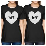 Bff Hearts BFF Matching Black Shirts
