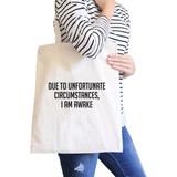 Im Awake Natural Canvas Bag Funny Quote Birthday Gift Ideas Eco Bag