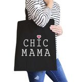 Chic Mama Black Canvas School Bag Cute Gift Ideas For Mother To Be