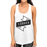 Camper Women's White Tank Top Unique Design Tanks For Summer Trip
