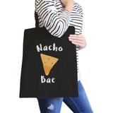 Nocho Bae Black Cotton Eco Bag Cute Design Gift Idea For Food Lover