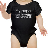 My Papa Fix Black Cute Baby Bodysuit Unique Fathers Day Gifts For Dad