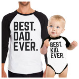 Best Dad And Kid Ever Baseball Tee Unique Family T-Shirts Ideas
