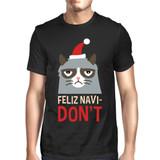 Feliz Navidon't Black Men's T-shirt Christmas Gift For Cat Lovers