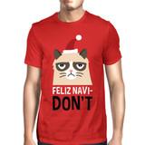 Feliz Navidon't Red Men's T-shirt Christmas Gift For Cat Lovers