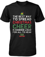 Men's Graphic Tees - Best Way to Spread Christmas Cheer Black Cotton T-shirt