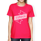 Camper Hot Pink Crew Neck Cotton Summer Cool T Shirt For Women
