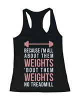 Funny Pink Design Workout Tank Top - All About Them Weight - Gym Clothes