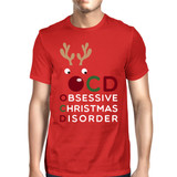 OCD Obsessive Christmas Disorder Red Men's Tee Cute Holiday Gift