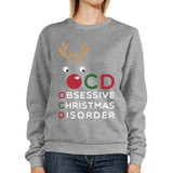 OCD Obsessive Christmas Disorder Sweatshirt Pullover Fleece Sweater