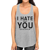 I Hate You Women's Humorous Tanks Cute Gift Idea For Valentines Day
