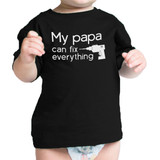 My Papa Fix Black Cute Baby T-Shirt Unique Fathers Day Gift For Dad