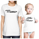 Mama & Little Mama White Mom and Baby Couple Shirt Baby Shower Gift