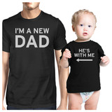 I'm A New Dad Black Dad and Baby Shirt Funny Baby Shower Gift Idea