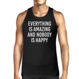 Everything Amazing Nobody Happy Mens Sleeveless Black Tank Top