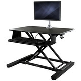 """StarTech.com Sit-Stand Desk Converter with Monitor Arm - 35"""" Wide - Height Adjustable Standing Desk Solution - Arm for up to 30"""" Monitor"""