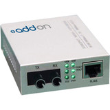 AddOn 10/100Base-TX(RJ-45) to 100Base-FX(ST) MMF 1310nm 2km Media Converter
