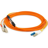 AddOn 10m LC (Male) to SC (Male) Orange OM1 & OS1 Duplex Fiber Mode Conditioning Cable