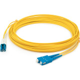 AddOn 10m LC (Male) to USC (Male) Yellow OS1 Duplex Fiber OFNR (Riser-Rated) Patch Cable