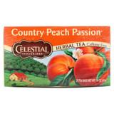 Celestial Seasonings Herbal Tea Caffeine Free Country Peach Passion - 20 Tea Bags - Case Of 6