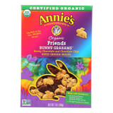 Annie's Homegrown Bunny Grahams Honey Chocolate And Chocolate Chip - Case Of 12 - 7 Oz