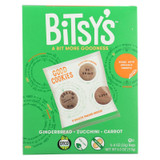 Bitsys Brainfood Cookies Gingerbread Zucchini Carrot - Case Of 6 - 5/4 Oz.