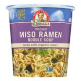 Dr. Mcdougall's Vegan Miso Ramen Soup Big Cup With Noodles - Case Of 6 - 1.9 Oz.